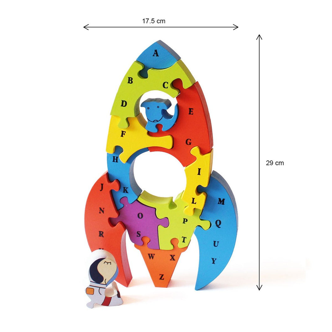 3D Jigsaw Puzzle - Rocket (Age: 3+ Years)