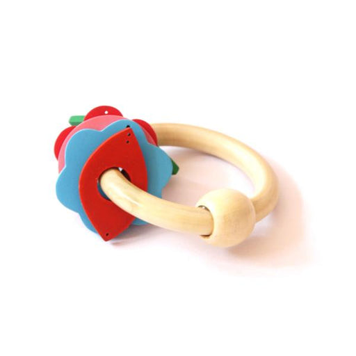 Wooden Key Rattle and Teether for babies.