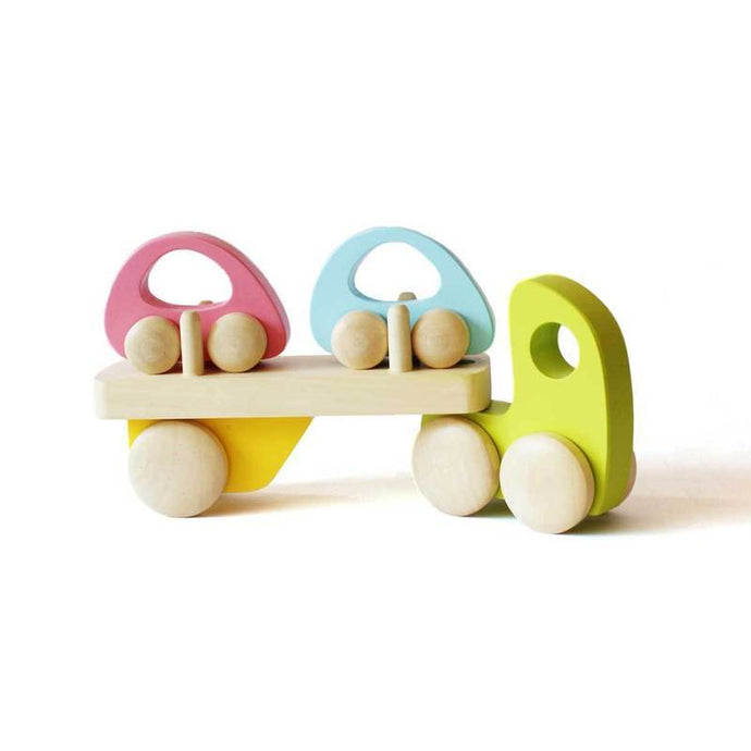 Wooden Transporter Truck for Kids