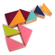 Load image into Gallery viewer, Wooden Multishape Chalk-o-Blocks Set