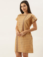 Load image into Gallery viewer, Mustard Placement Print Shift Dress