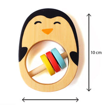 Load image into Gallery viewer, Natural Wooden Penguin Rattle for Babies(Age: 0+ Years)