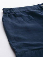 Load image into Gallery viewer, Navy Blue High Waist Casual Pants