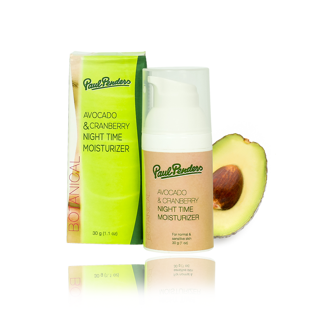 Natural Avocado & Cranberry Night Moisturizer