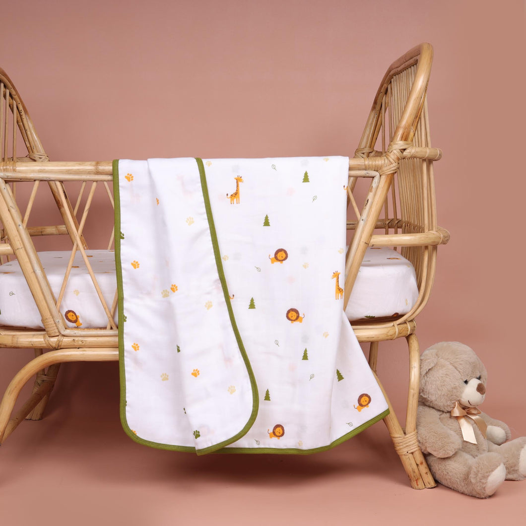 Forest Friends Organic Reversible Blanket