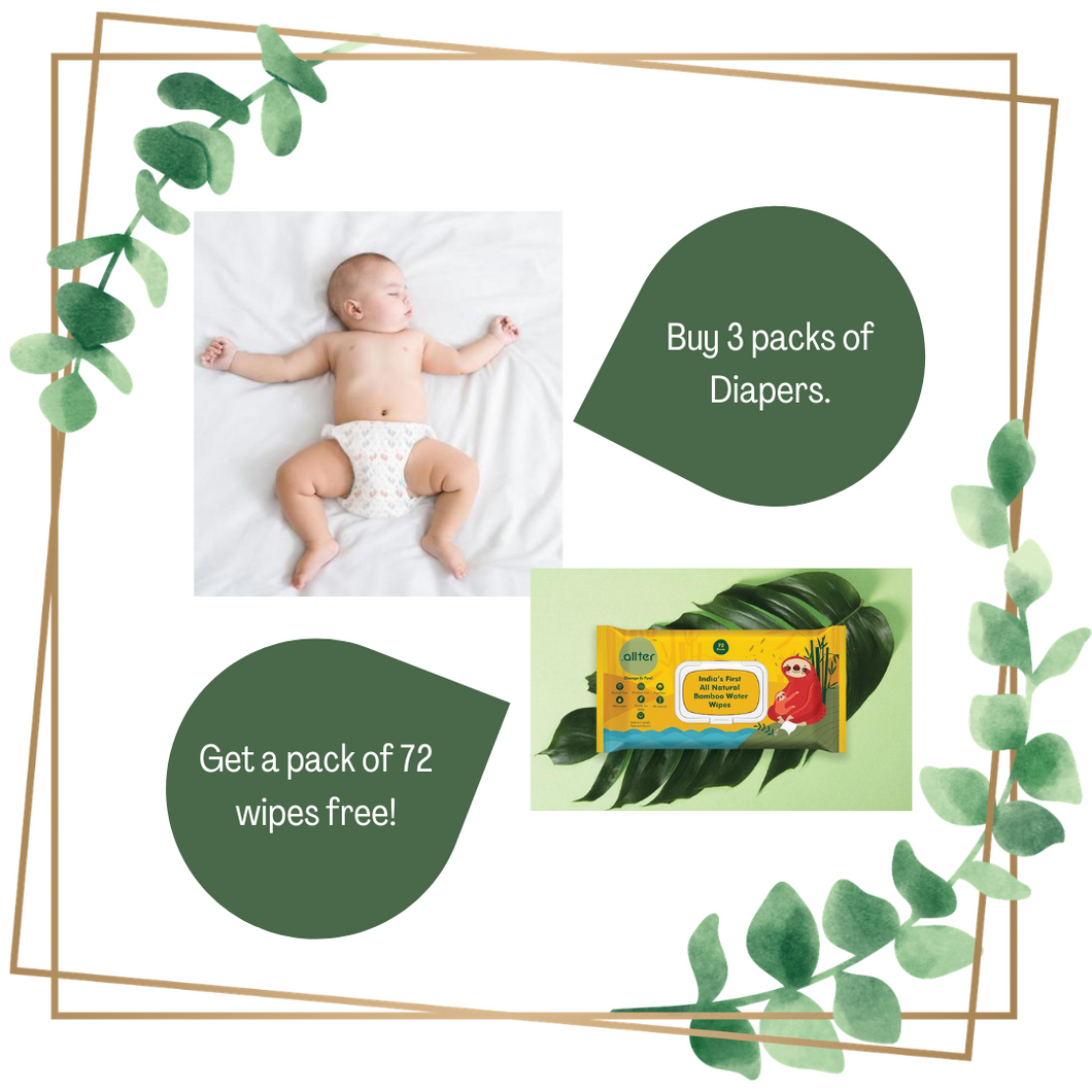 Organic Disposable Diapers and Wipes - Combo Deal
