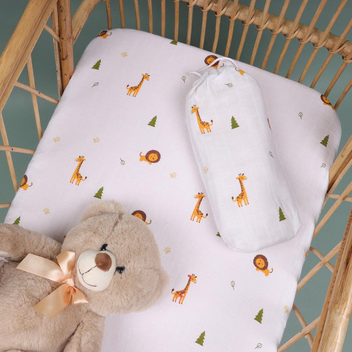 Forest Friends Organic Crib Sheet