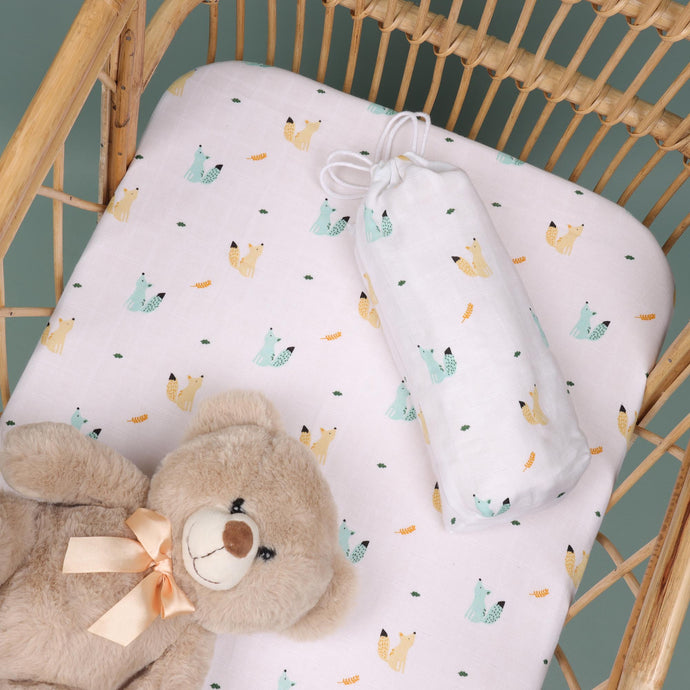 Baby Squirrel Organic Crib Sheet