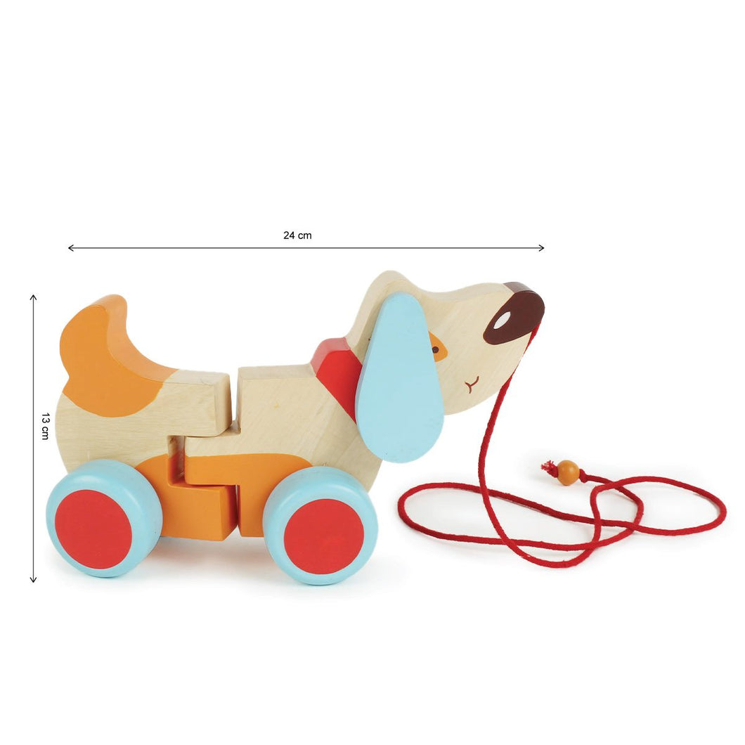 Wooden Pull Along Toy -Bruno The Dog (Age: 1+ Years)