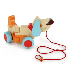 Load image into Gallery viewer, Bruno, The Wooden Pull Along Dog for Kids