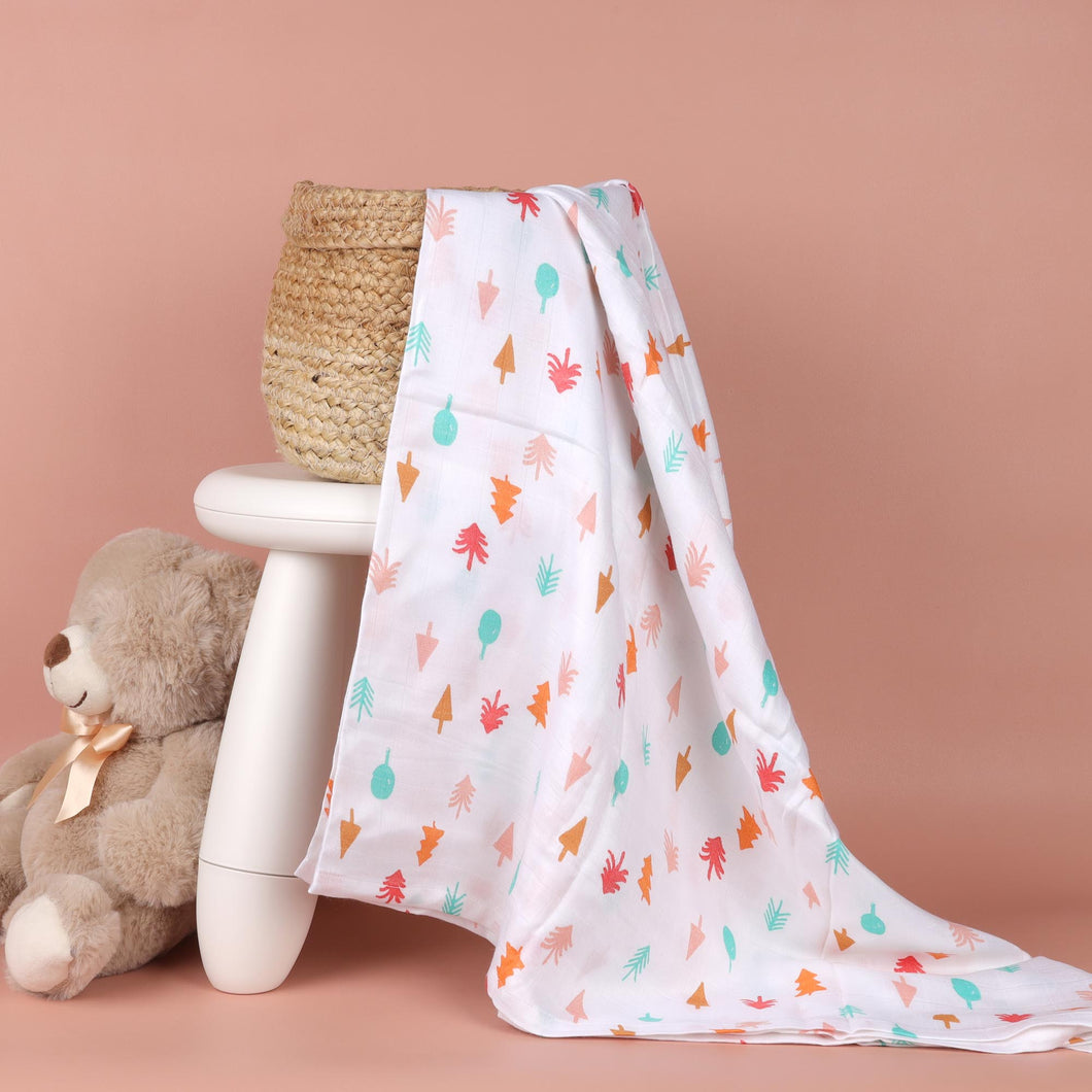 Fun in Forest Bamboo Swaddle