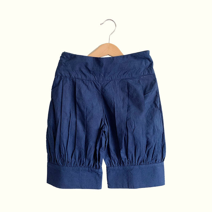 Mia Puffed Shorts  -  Navy