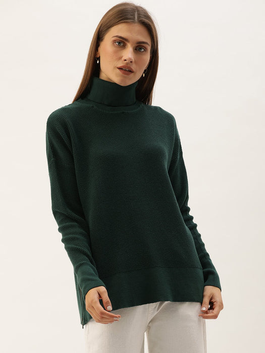 Green Turtle Neck Sweater