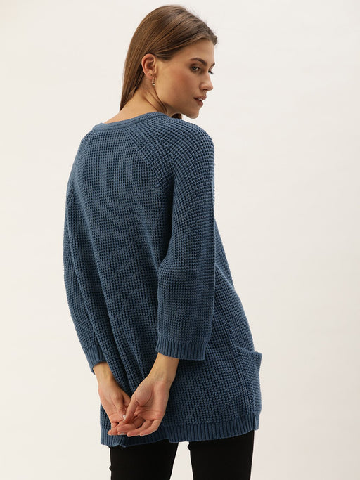 Charcoal Baggy Sweater with Pockets