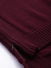 Load image into Gallery viewer, Maroon Round Neck Jumper