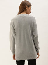 Load image into Gallery viewer, Light Grey Straight Fit Henley