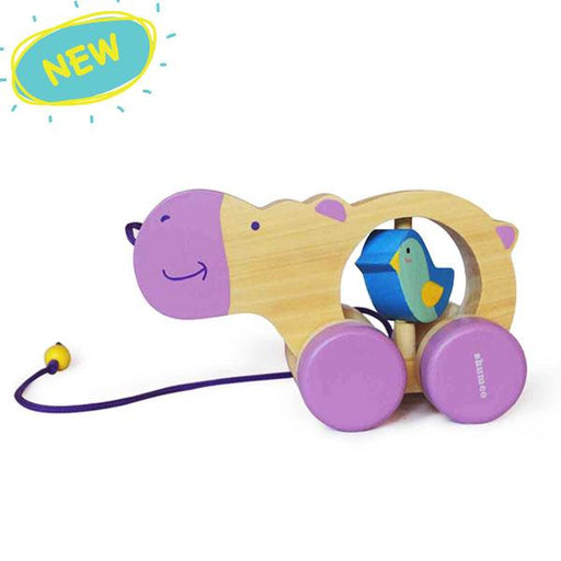 Haley, The Wooden Pull Along Hippo for Kids
