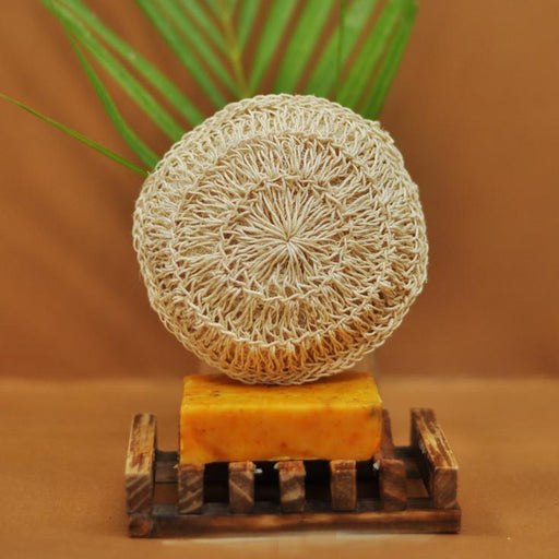 An earth-friendly, all-natural loofah