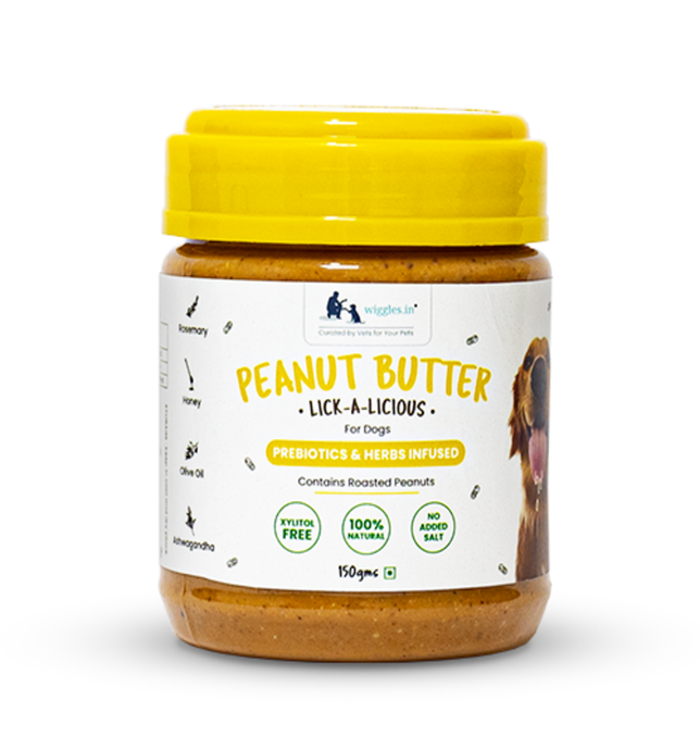 Herb infused peanut butter for dogs