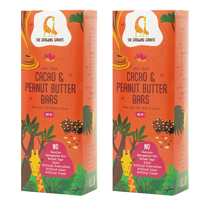 Cacao and Peanut Butter Nutrition Bars - Pack of 2