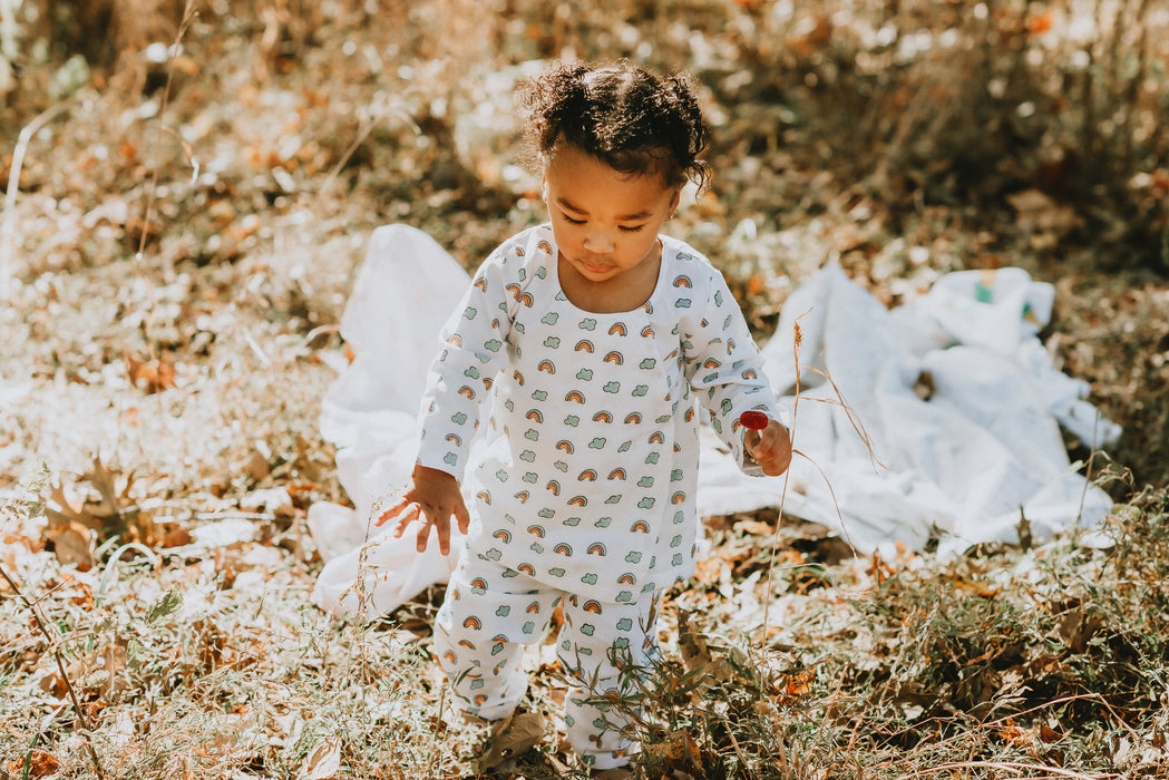 Sustainable cotton sleepwear set for kids