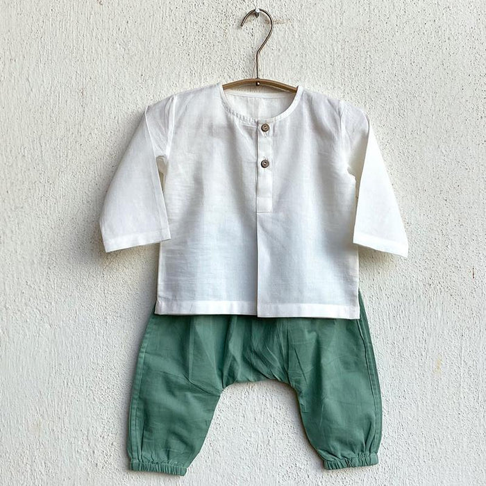 Organic Cotton Kurta and Mint Pant Set