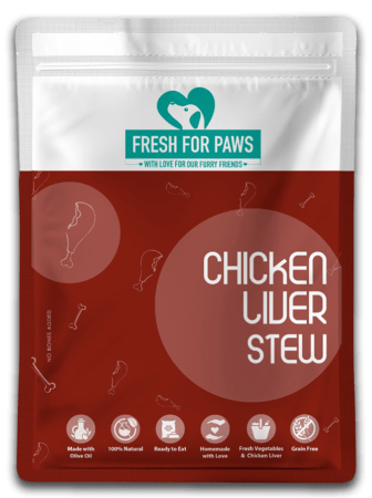 Natural, home-made dog-food - chicken liver stew
