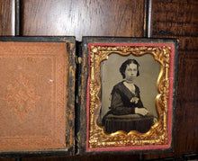 Load image into Gallery viewer, Lot of 1/9 Plate Tintypes Ambrotypes, Includes Union Case