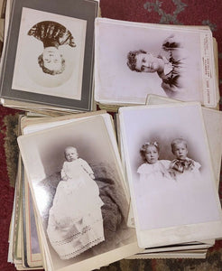 Giant Lot of 200 Antique / Victorian Era Photographs