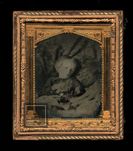Post Mortem Ambrotype Little Girl PLUS Several Pages of Mourning Poetry