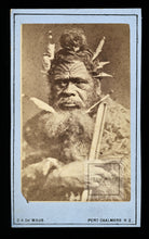 Load image into Gallery viewer, RARE Antique 1800s Photo Maori Chief New Zealand Photographer De Maus / Tattoos