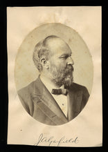 Load image into Gallery viewer, Rare President Garfield Campaign Portrait Chicago Convention 1880 Albumen Photo