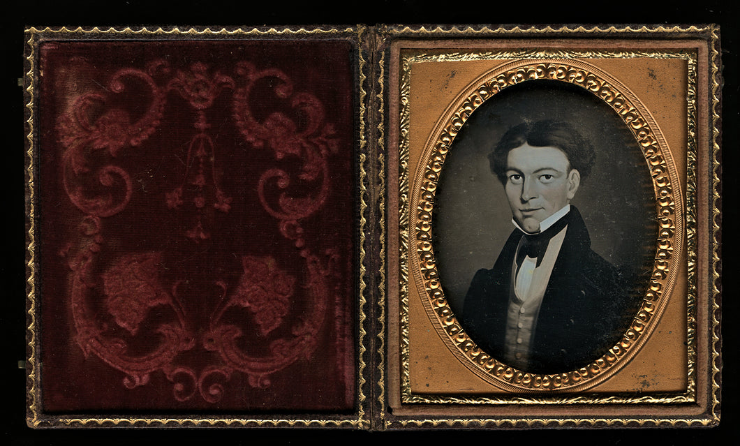 1/6 Daguerreotype of Painted Portrait / Painting of Man