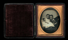 Load image into Gallery viewer, Southworth & Hawes (?) 1/6 Daguerreotype Affectionate Children Hidden Father?