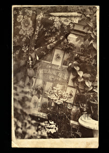 rare double sided CDV + great photographer studio advertising / advertisement