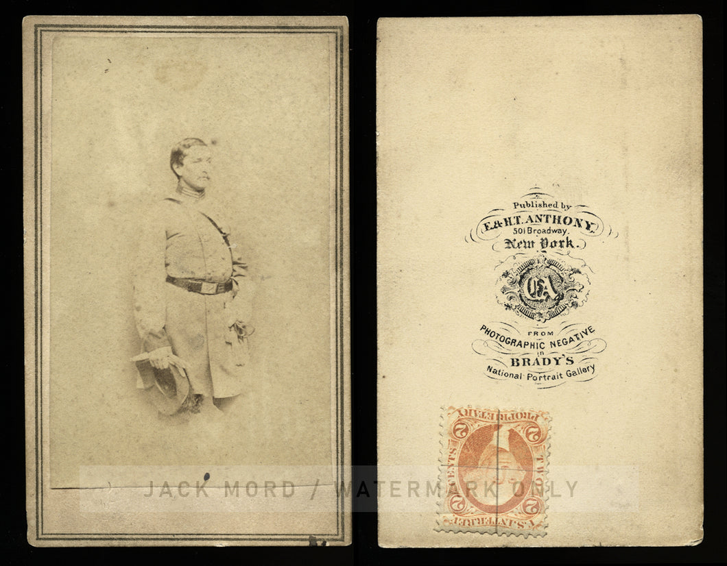 Civil War Soldier / Confederate COLONEL HARRY GILMOR CDV / Anthony, Brady