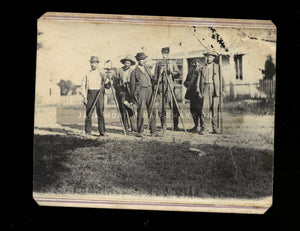 awesome civil war era cdv of a survey crew / occupational / rare 1860s photo