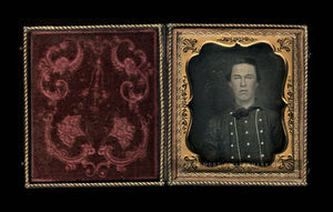1850s Sealed Daguerreotype Handsome Man - Miner Fireman or Sailor? You Tell Me!