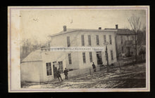 Load image into Gallery viewer, 1860s Street Scene Silver Lake House Hotel - Kosciusko County Indiana History