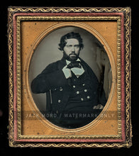 Load image into Gallery viewer, Sea Captain (?) Handsome Bearded Man 1/6 Daguerreotype Probably Portland Maine
