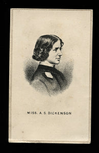 Uncommon 1860s CDV * Anna Dickinson * ORATOR ABOLITIONIST WOMEN'S SUFFRAGE