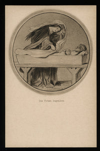 Burying the Dead / Antique Postcard, Unmailed