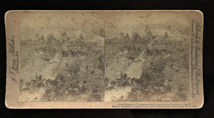 Civil War Union Confederate Csa Stereoview Card of Battle of Gettysburg Pa