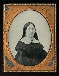 Half-Plate Relievo Ambrotype of a Woman, Mid-1850s