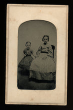 Load image into Gallery viewer, 1860s Tintype Cute Little Girls, Sisters Holding Hands
