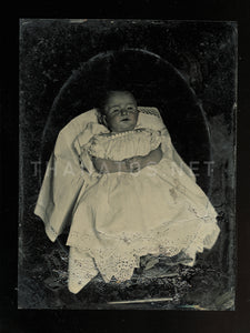 1/4 Plate Post Mortem Tintype Photo 1860s