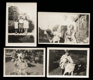 vintage snapshot photo lot people girl pets dogs puppy cat chicken! TN & Indiana
