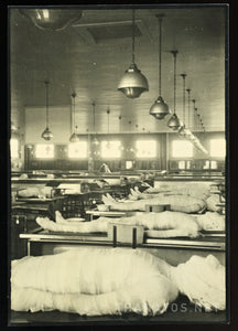 Super Creepy Vintage Photo - Wrapped Corpses in Autopsy / Anatomy Lab
