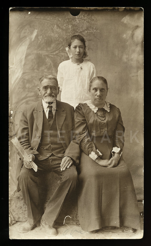 Southern Ute Indian Tribe Preacher & Family Antique 1910s Photo Durango Colorado