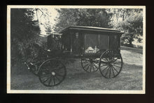 Load image into Gallery viewer, Vintage Postcard of an 1890s Hearse / Funeral Home Advertising Card